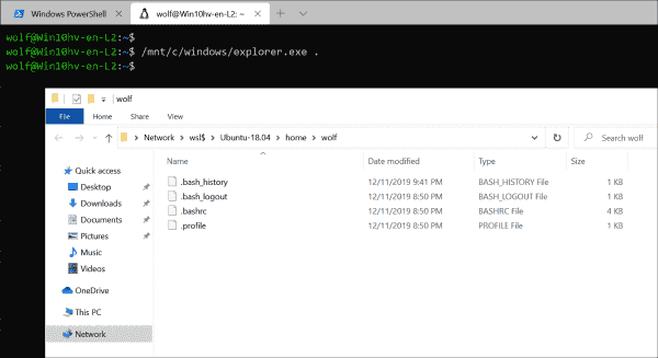 Accessing files stored in the Linux filesystem from the Windows Explorer