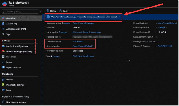 Azure Firewalls that are managed by Azure Firewall Manager use Azure Firewall policies instead of their own rules