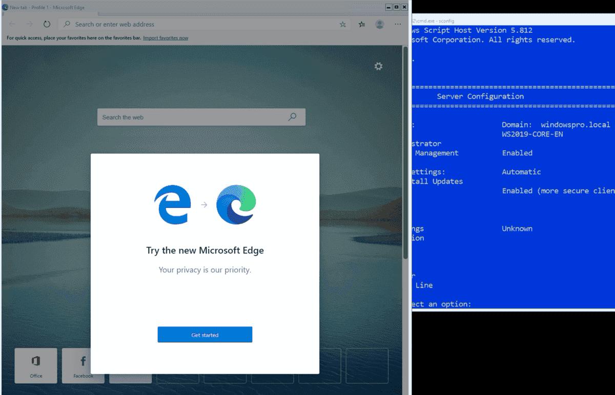 Install Microsoft Edge Chromium on Windows Server Core