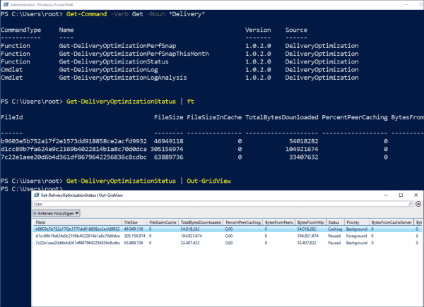 Analyzing DO activities with the help of PowerShell