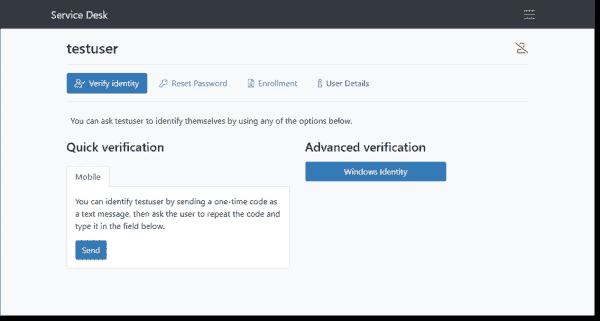 Choosing the identity verification method to verify an end user