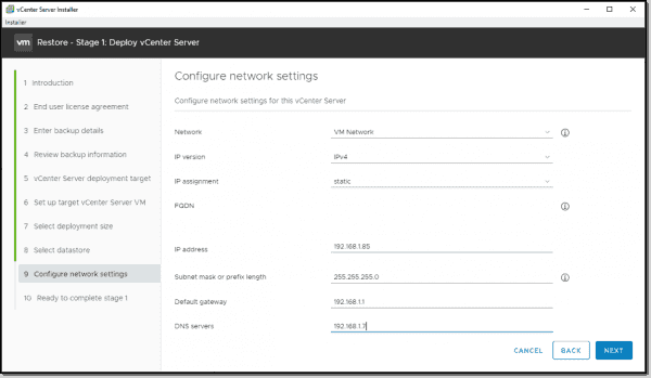 Configure your network settings