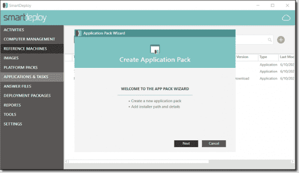 SmartDeploy's application packaging feature was released in June 2020