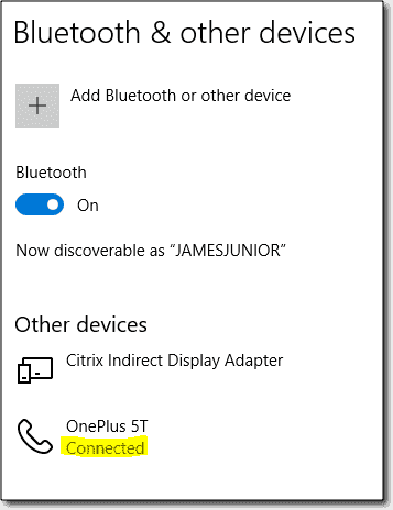 Bluetooth device connection
