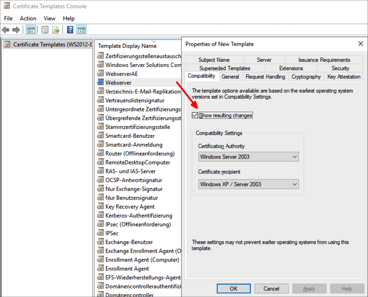 By selecting a newer Windows version additional functions can be added