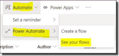 Manage flows and reminders