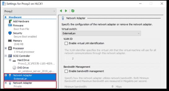 NIC summary host GUI