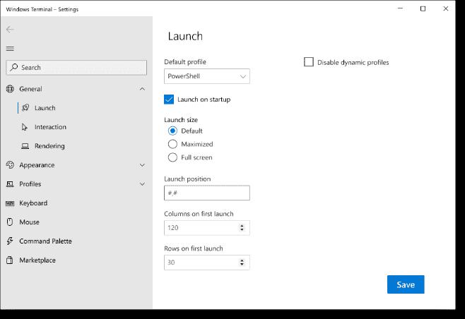 New settings UI in Windows Terminal v1.2 image courtesy of Microsoft