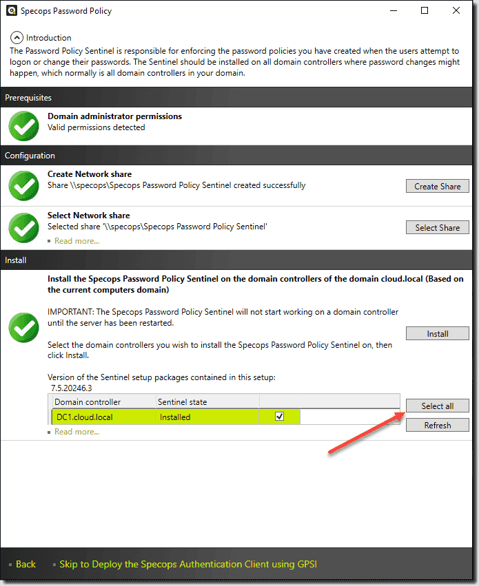 Easier management of domain controllers during installation