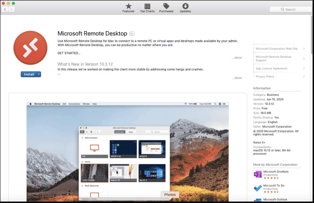 Mac Microsoft Remote Desktop