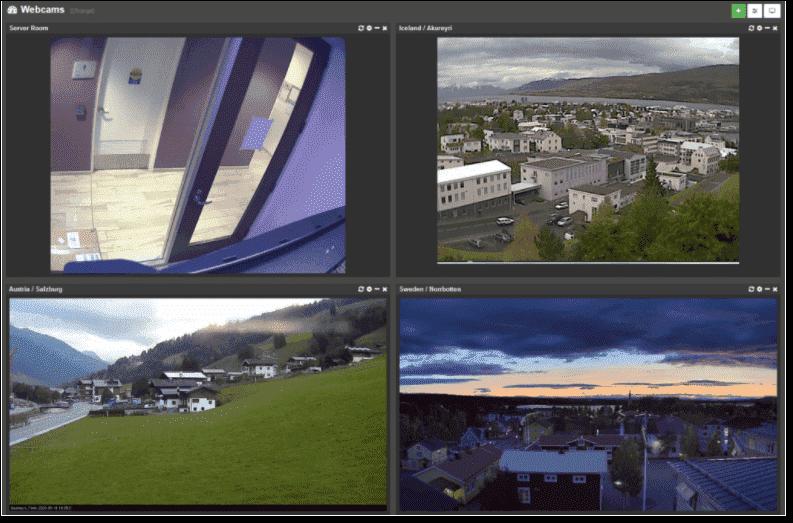 New image and web cam dashboard tiles image courtesy of Netikus