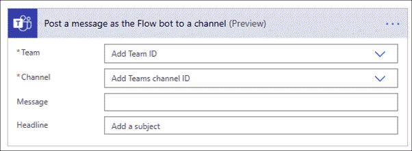 Post a Teams message