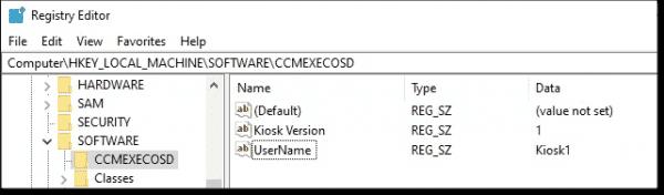 Registry value