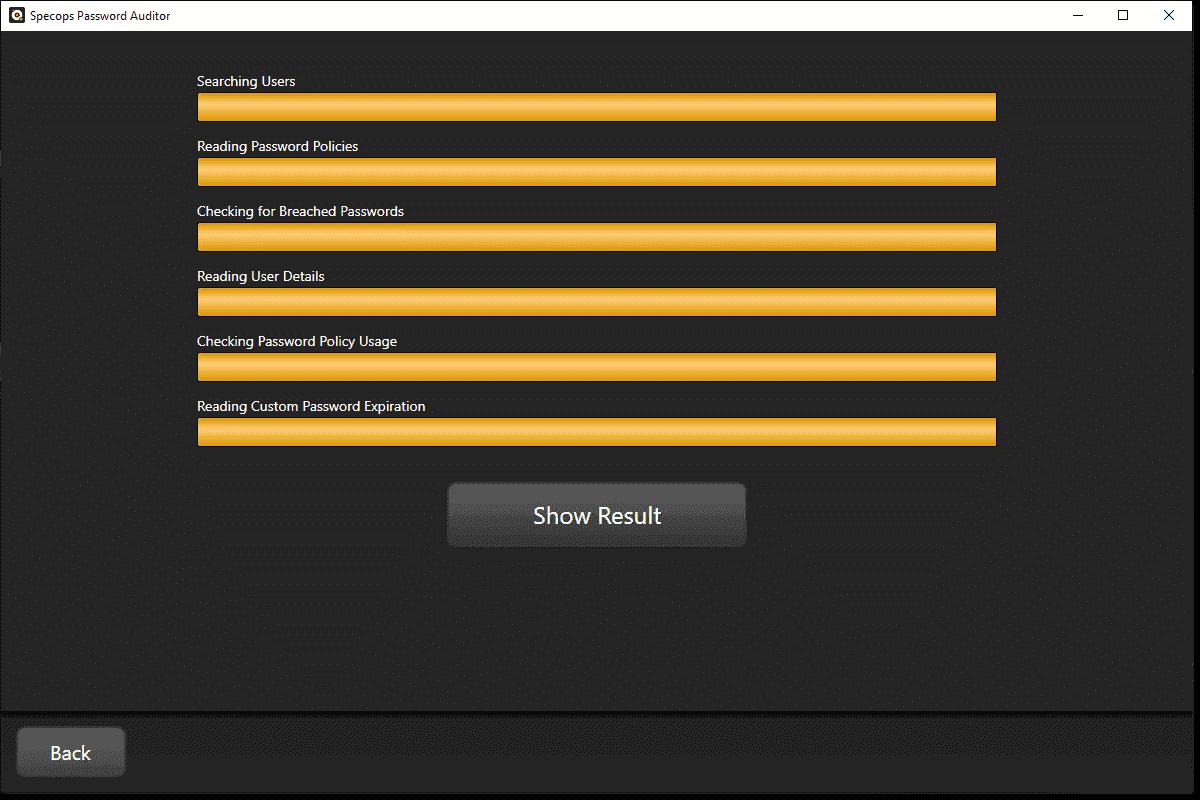 Running the Specops Password Auditor scan