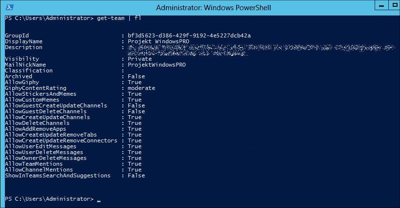 View existing teams with PowerShell