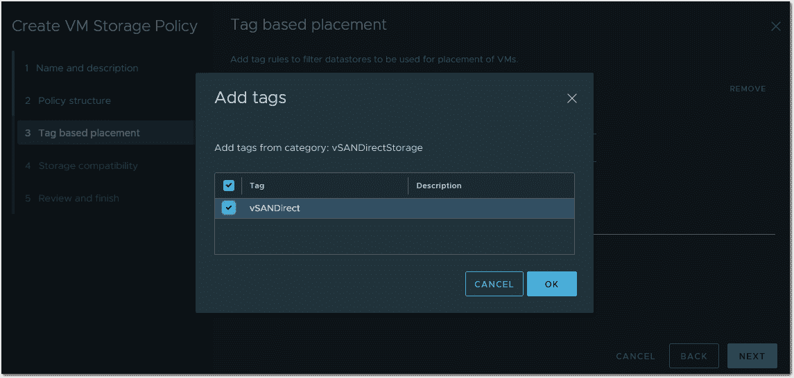 Add tag based usage option