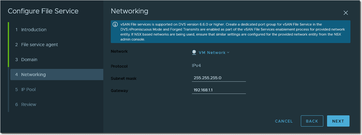 Networking configuration