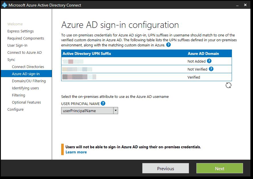 Azure AD Connect default sync behavior