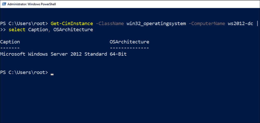 Finding out the name and bit width of the guest OS via WMI