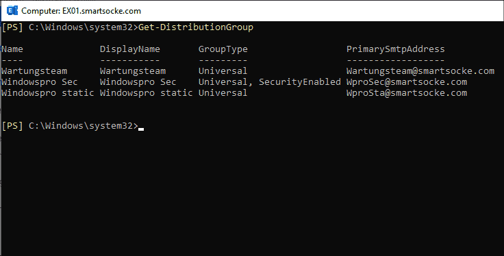 Create and manage Exchange distribution groups with PowerShell