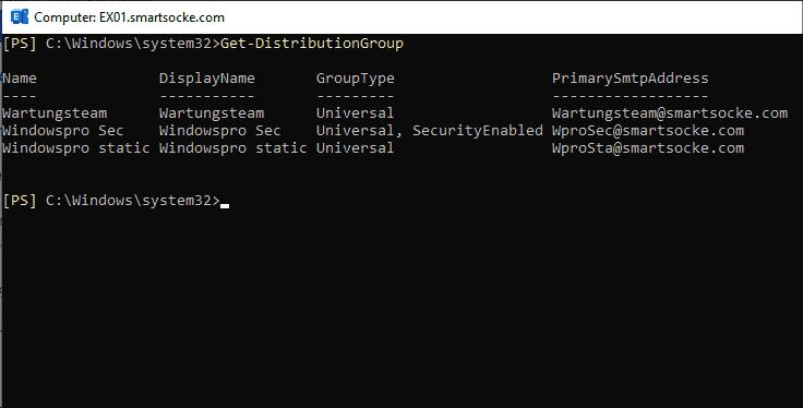 Displaying distribution groups with PowerShell