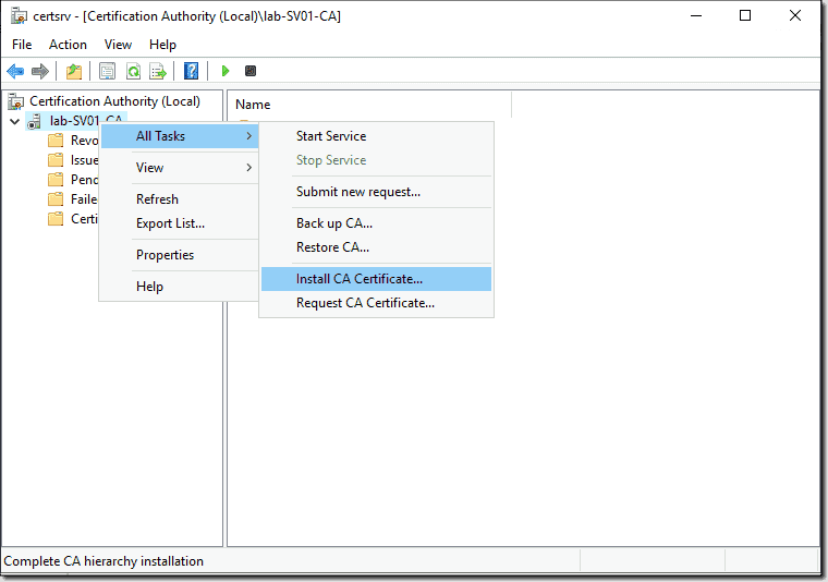 Install the CA certificate