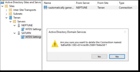 Remove NTDS links