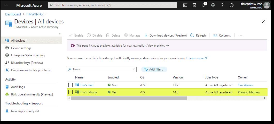 Verifying device registration