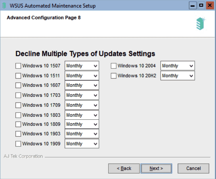 Automatically decline updates for versions of Windows 10 that are no longer in use