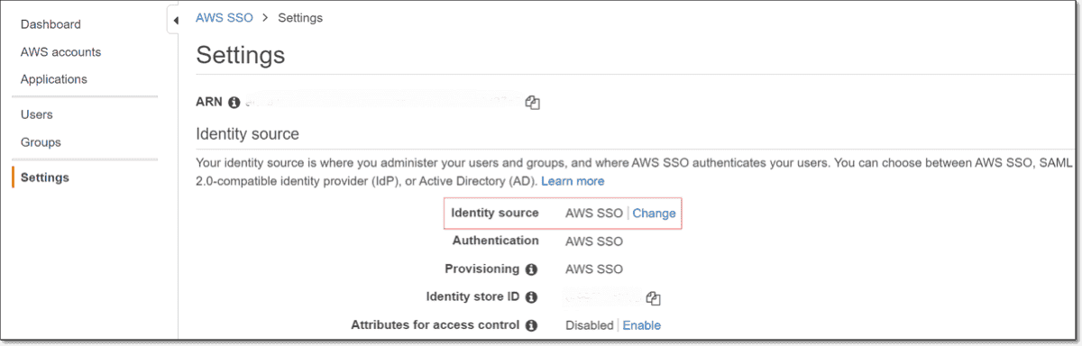 Changing the identity source
