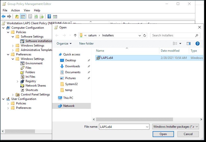 Client software push