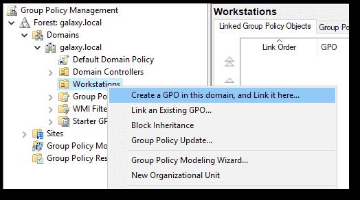 Creating the GPO