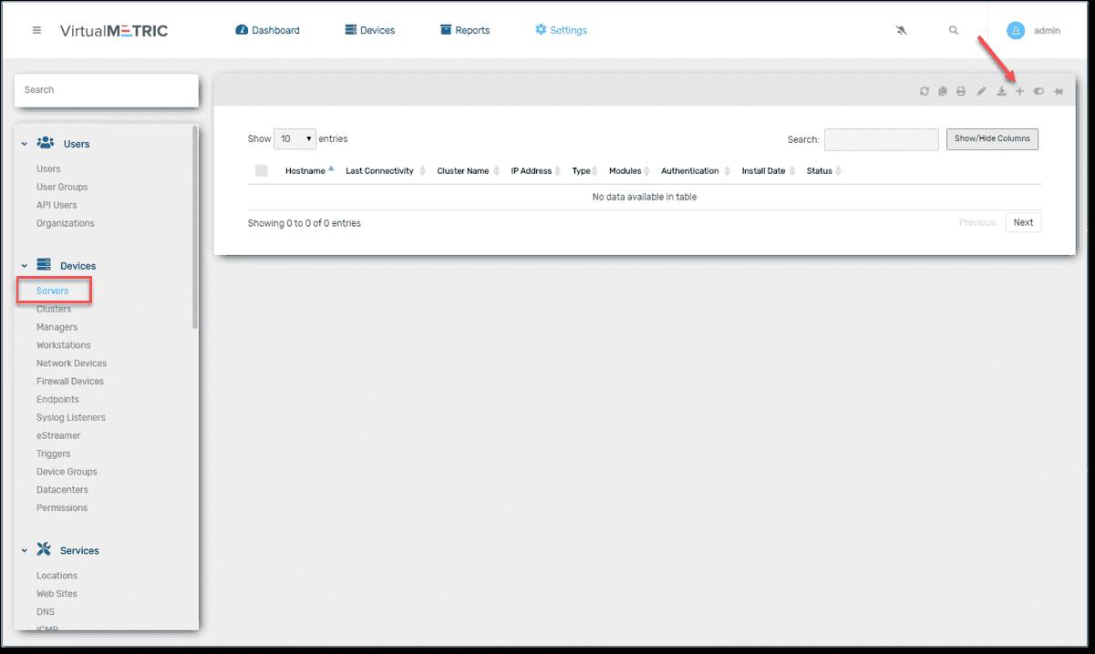 Adding servers to the VirtualMetric monitoring solution