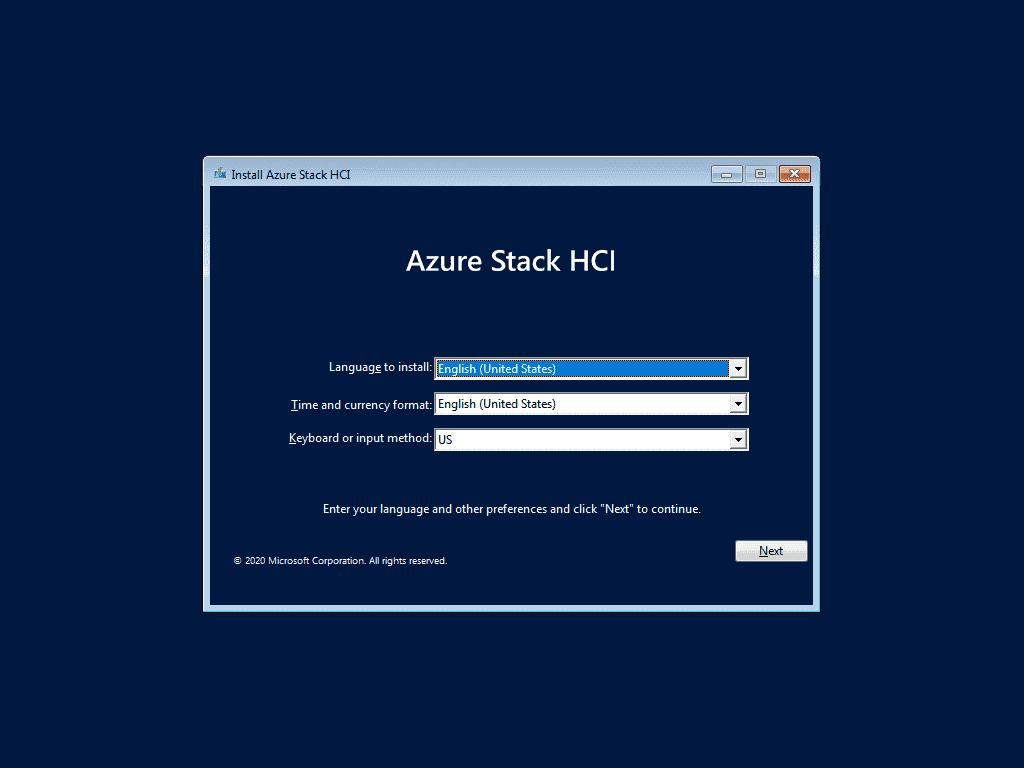 Azure Stack HCI is based on a customized Windows Server Core