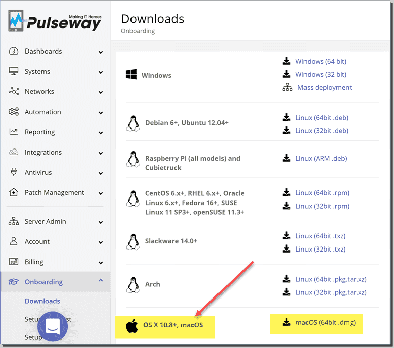 Installing the macOS Pulseway agent for remote connectivity