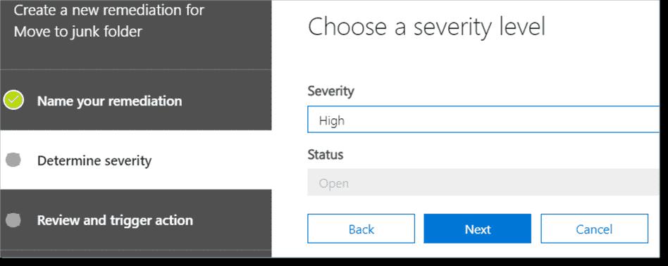Choose the severity