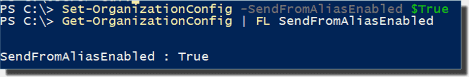 Enabling the feature of sending emails from proxies for the tenant via PowerShell