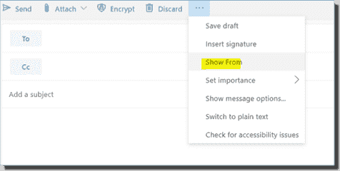 How to expose the From field in OWA