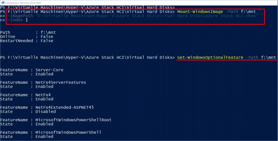 Mounting virtual drive for offline servicing with PowerShell