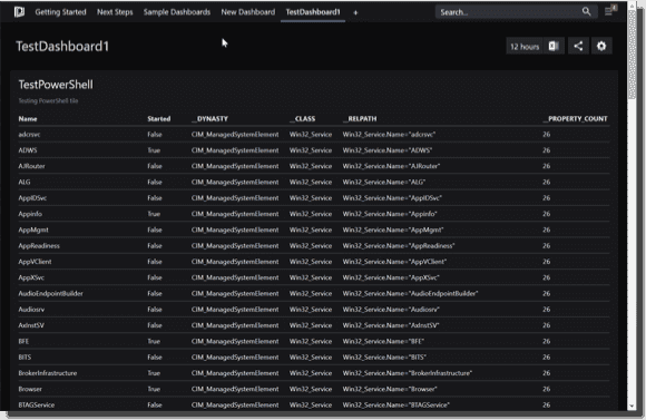 Viewing the new PowerShell dashboard in SquaredUp
