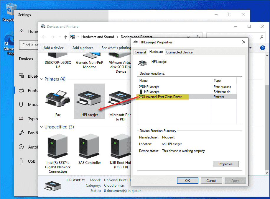 Windows 10 has all the requirements for printing via the cloud