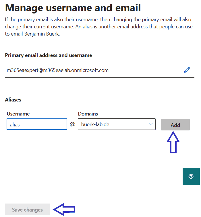 Adding alias addresses via the Exchange Admin Center