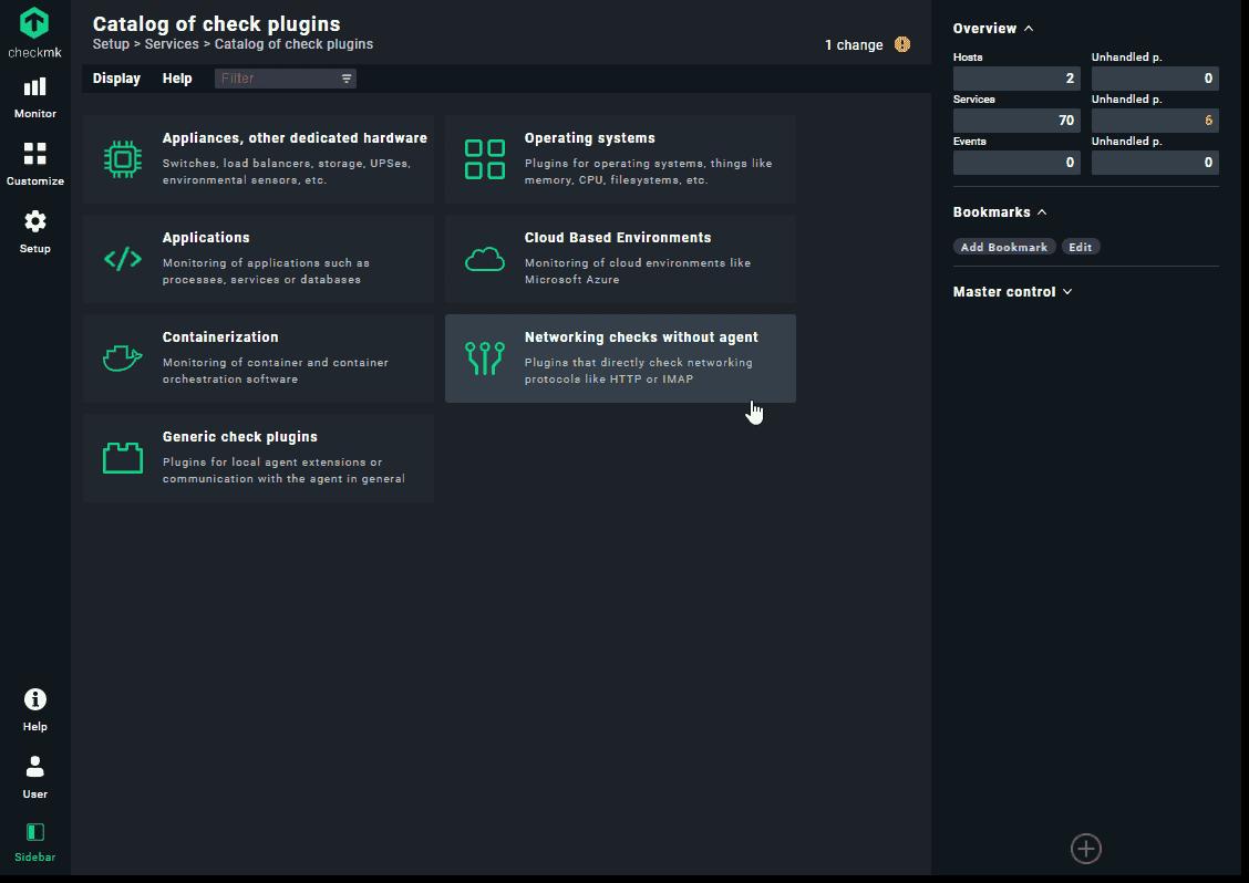 Catalog of check plugins