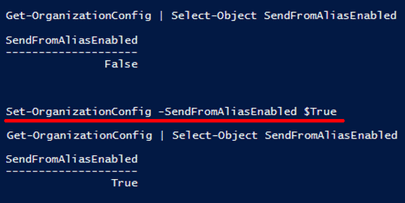 Changing the organizational configuration with PowerShell