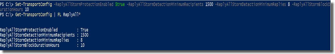 Configuring all the properties in one PowerShell command