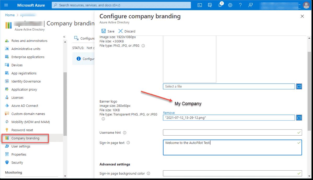 Add company branding for Autopilot