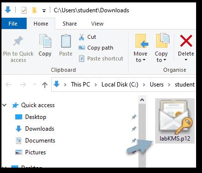 Backup NKP p12 file