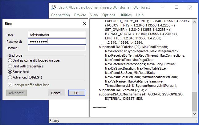 Check channel binding using ldp.exe_