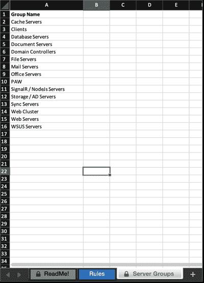 Server groups
