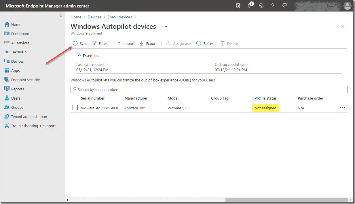 The device shows Not assigned at first
